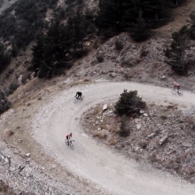 Alpine dirt roads on road bikes