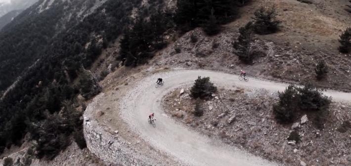 Alpine dirt roads on road bikes